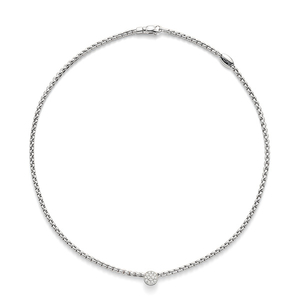 FOPE 18ct White Gold 0.22ct Diamond Flex'It Eka Tiny Necklace