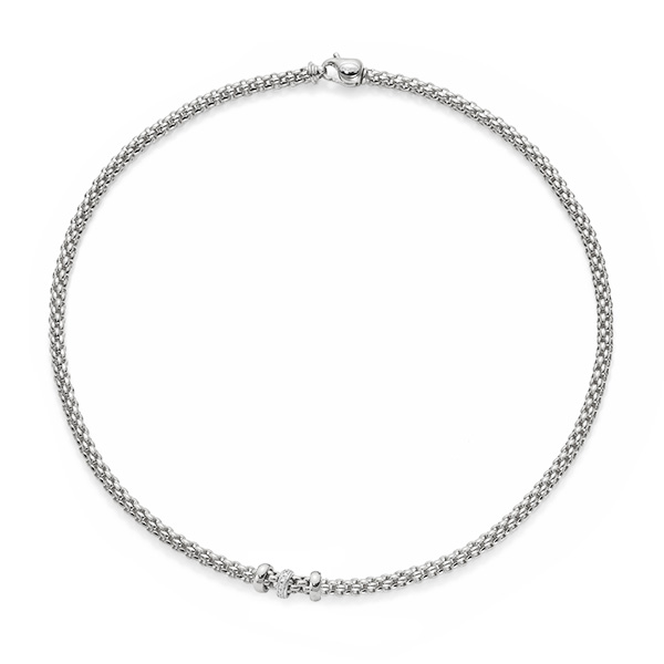 18ct white gold Fope Flex'It solo necklace
