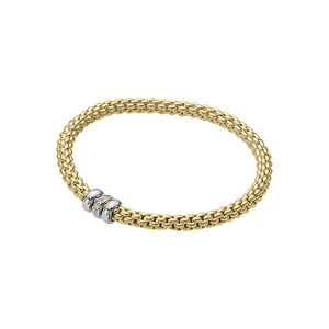 18ct yellow gold Fope Flex'It solo bracelet