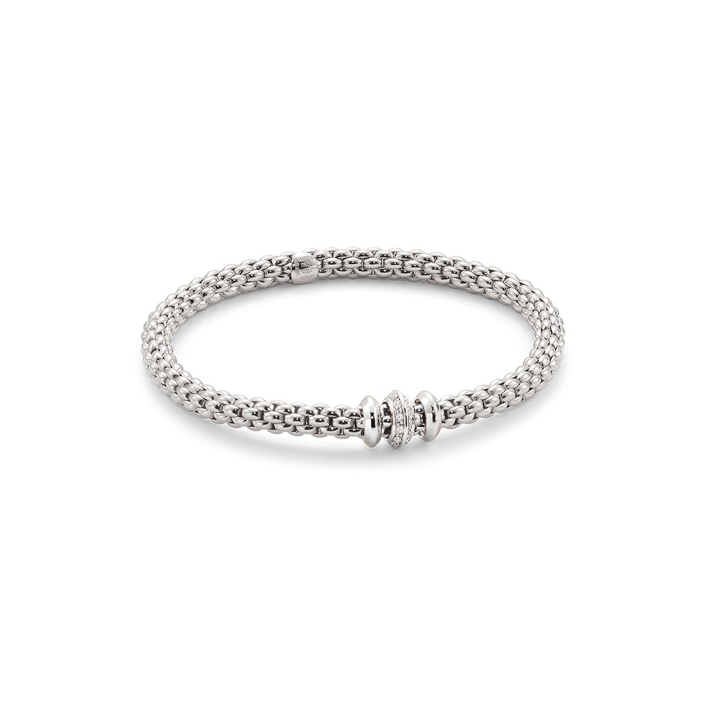 White Gold Fope Flex'It solo bracelet