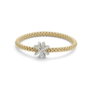 18ct yellow gold Flex'It Venezia bracelet