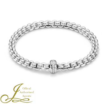 FOPE flex'it white gold and diamond bangle