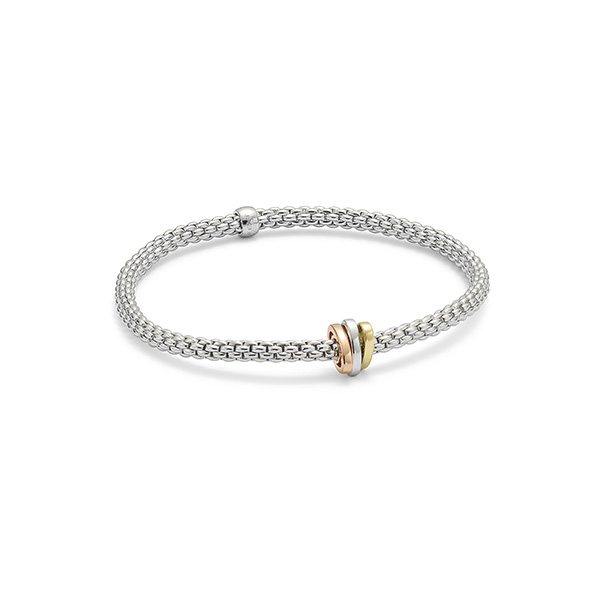 18ct white gold Fope Flex'It Prima bracelet