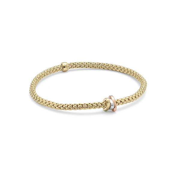 18ct yellow gold Fope Flex'It Prima bracelet