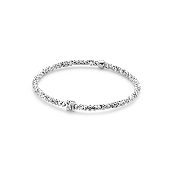18ct white gold Fope Prima bracelet