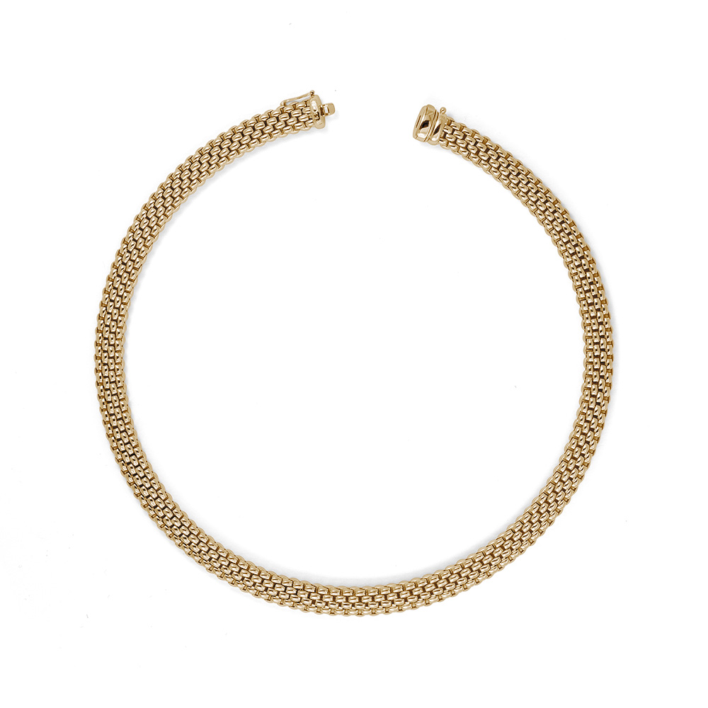 18ct Yellow Gold Fope Profili Necklace