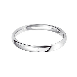 Fairtrade 18ct White Gold 2.5mm Wedding Band