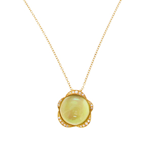Gianfranco Bigli Lemon Quartz 'Lilly Bloom' necklace