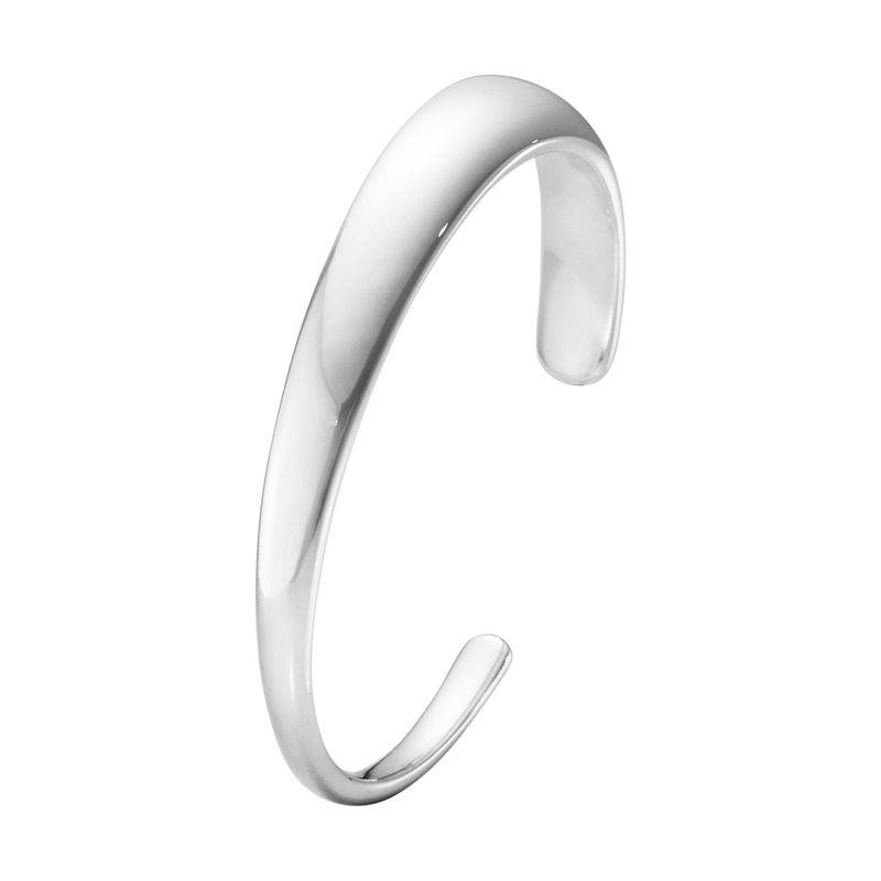 Georg Jensen Curve Silver Bangle