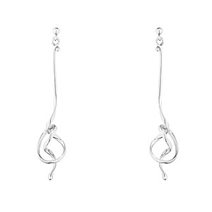 Georg Jensen Forget Me Knot Silver Earrings