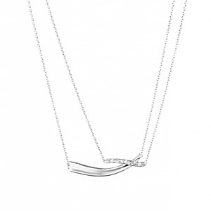 Georg Jensen Marcia Silver + Diamond Necklace