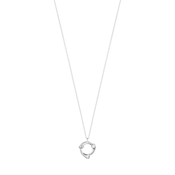 Georg Jensen Magic 18ct White Gold + 0.12ct Diamond Pendant