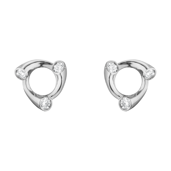 Georg Jensen Magic 18ct white Gold + Diamond Earrings