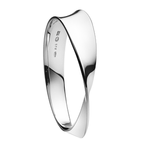 Georg Jensen Möbius Silver Bangle