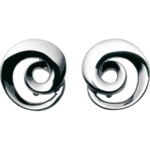Georg Jensen Mobius Silver Earrings