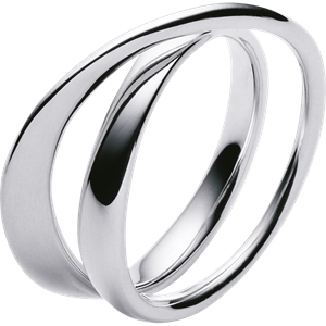 Georg Jensen Sterling Silver Mobius Ring