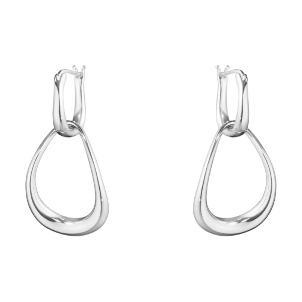 Georg Jensen Offspring Silver Drop Earrings