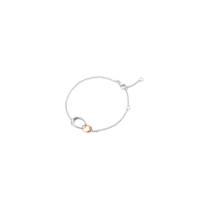 Georg Jensen Offspring 18ct Rose Gold + Silver Bracelet
