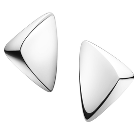 Georg Jensen Silver triangular peak clip earrings