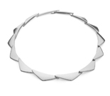 Georg Jensen Peak Silver Necklace
