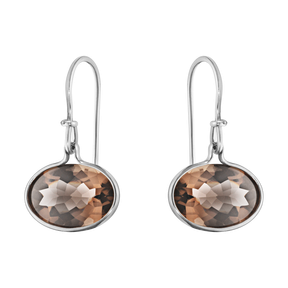 Georg Jenson smokey quartz earrings.
