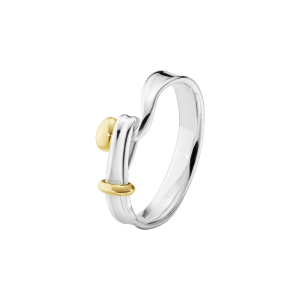 Georg Jensen Torun Silver + 18ct Yellow Gold Ring