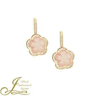 Hulchi Belluni Rose Quartz 'Fiore' Earrings