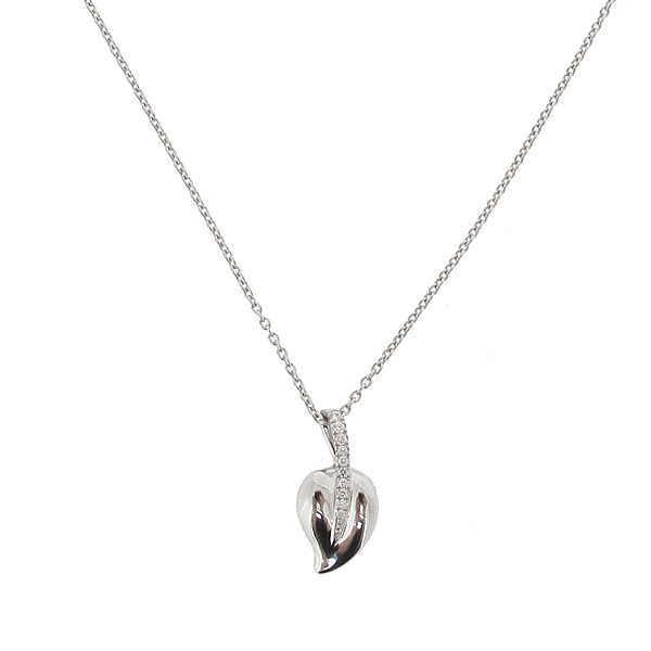 Hulchi Belluni Diamond 'Leaf' Pendant