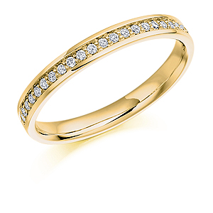 18ct Yellow Gold 0.17ct Diamond Half Eternity Ring