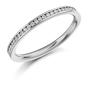 18ct White Gold 0.20ct Diamond Half Eternity Ring
