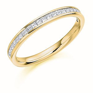 18ct Yellow Gold 0.33ct Diamond Half Eternity Ring