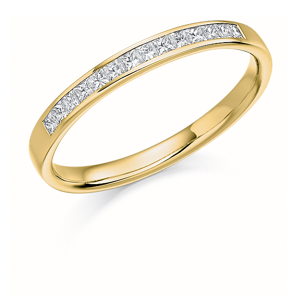 18ct Yellow Gold 0.20ct Diamond Half Eternity Ring