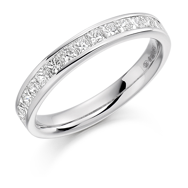 Platinum 0.75ct Diamond Half Eternity