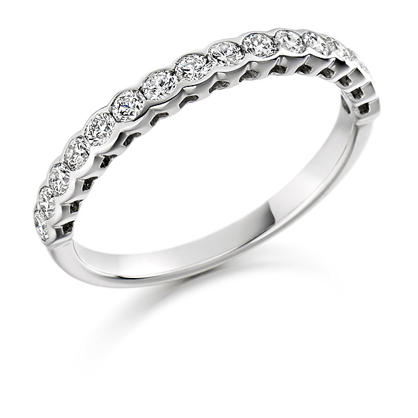 Platinum 0.50ct Diamond Half Eternity
