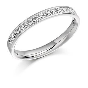 18ct White Gold 0.50ct Diamond Half Eternity Ring