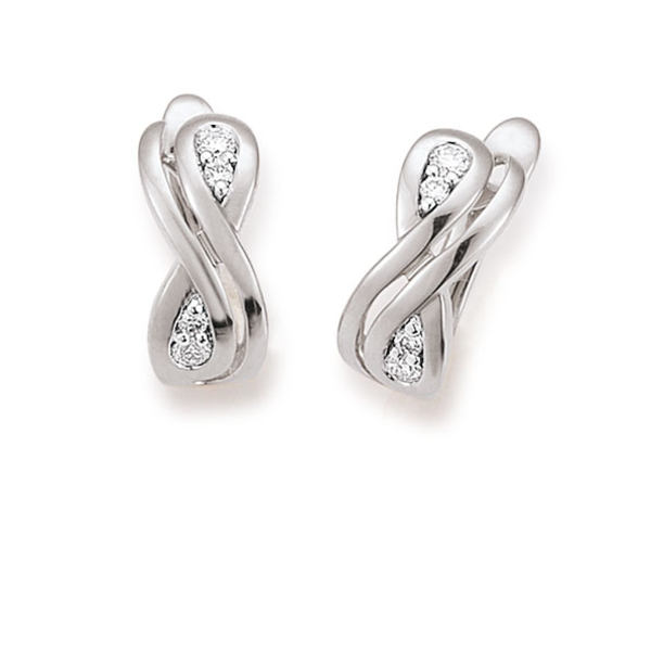 18ct White Gold 0.17ct Diamond Earrings