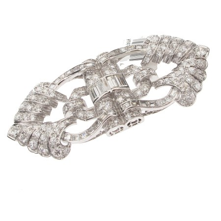 White gold diamond brooch.