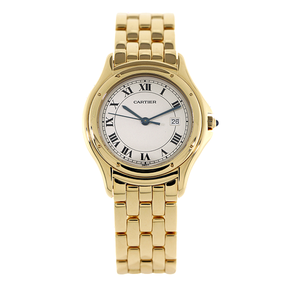 Second Hand Cartier 18ct Gold Cougar Watch