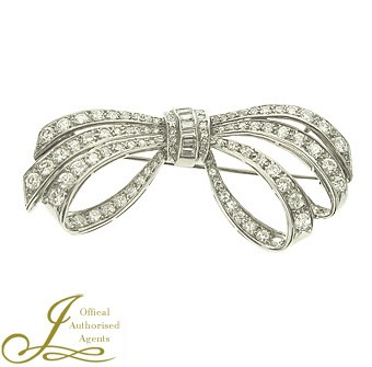 Second Hand Diamond Bow Brooch