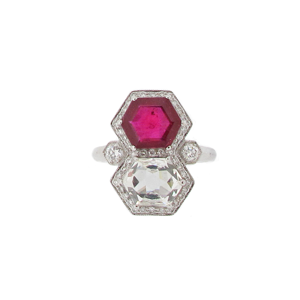 Second Hand Ruby + Diamond Ring