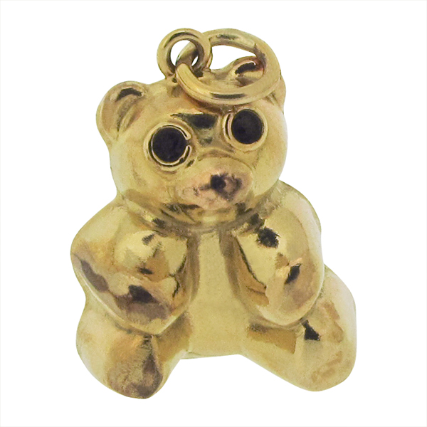 Yellow Gold Teddy Bear charm