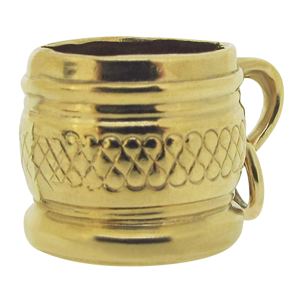 Yellow Gold Tankard charm