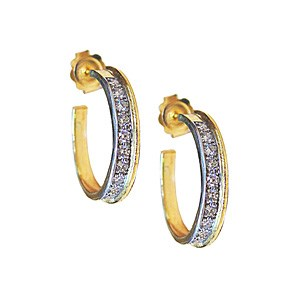 Second Hand Diamond Hoop Earrings