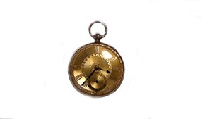 Second Hand 18ct Yellow Gold Open Face Pocket Watch