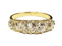 Second Hand 18ct yellow gold diamond ring