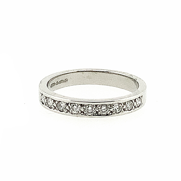 Second Hand Platinum 0.25ct Diamond Half Eternity Ring