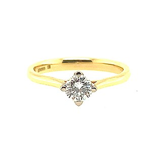 Second Hand Fairtrade 18ct Yellow Gold 0.45ct Diamond Ring
