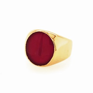 Second Hand 18ct 15x13mm Cornelian Signet Ring