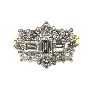 Second Hand 18ct Gold + Diamond  Cluster Ring