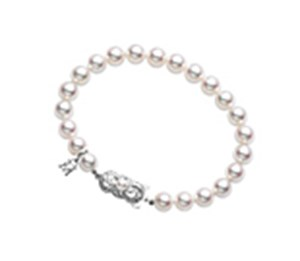 Mikimoto 18ct White Gold 5.5-6mm Pearl Bracelet
